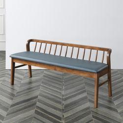 현대가구 고무나무 원목 3인용 식탁 까페 벤치의자