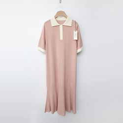 Laine Wool Collar Dress - 반팔