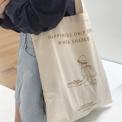 pizza drawing bag ( brown )