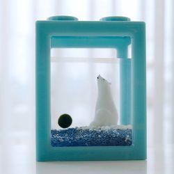 북극의꿈 4구 블럭어항 국산 마리모 DIY 세트-마리모(대)