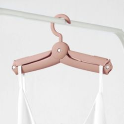 무핀 접이식 옷걸이(핑크)