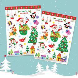 투명 크리스마스 스티커 1개(10.5X14.8cm)