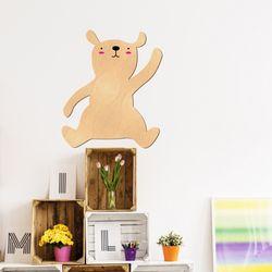 우드스티커 귀여운곰 (반제품) W551