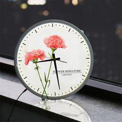 nf010-LED시계액자35R감사의마음카네이션