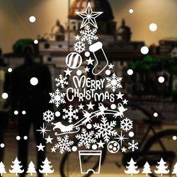 크리스마스 윈도우 스티커 (트리 1롤 54x72cm)