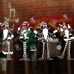 크리스마스 윈도우 스티커 (키다리 산타 1롤 72x54cm)