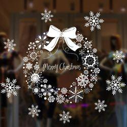 크리스마스 윈도우 스티커 (리스 1롤 72x54cm)