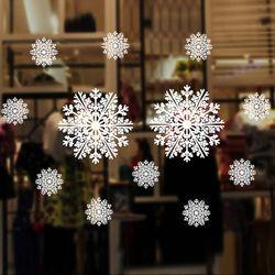 크리스마스 윈도우 스티커 (눈결정 1롤 72x54cm)