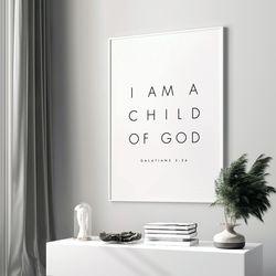 성경말씀액자 갈라디아서 3장 26절 A3 포스터