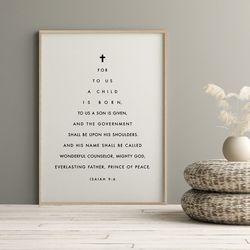 성경말씀액자 이사야 9장6절 A3 포스터
