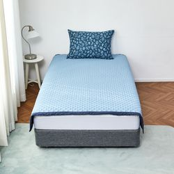 눈뜨니아침꿀잠패드(150X200)블루네이비
