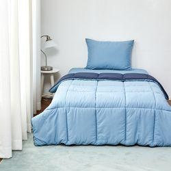 눈뜨니아침꿀잠이불(160X210)블루네이비
