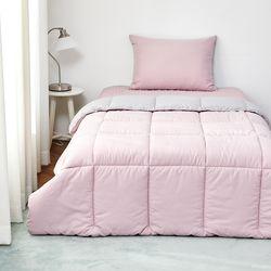 눈뜨니아침꿀잠이불(160X210)핑크그레이