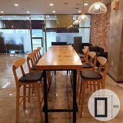 [창성가구] 뉴송 우드슬랩 식탁 스타벅스테이블 1200(바높이950)