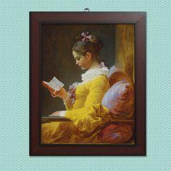 사진액자or그림액자 브라운 11x14 16.책읽는 소녀