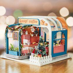 [adico]DIY 미니어처 하우스 - 크리스마스 커피숍