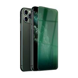 아이폰X 그린 9H 하드 글라스 강화 핸드폰 필름 PF022