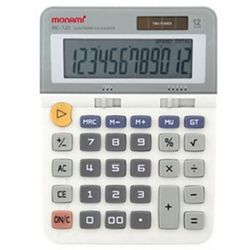 모나미 계산기 MC-122 12단 사무용품 회계용