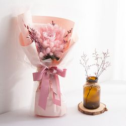 핑크 라그라스 꽃다발