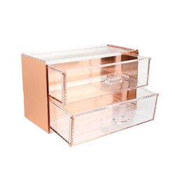 핑크박스 화장품 정리함 12 중형 로즈골드 color