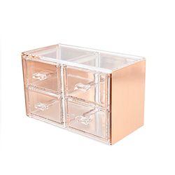 핑크박스 화장품 정리함 22 소형 로즈골드 color