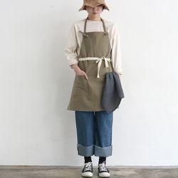 work apron [ khaki ]