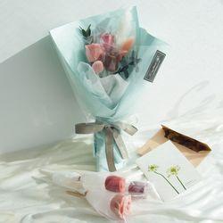 발렌타인데이 장미 수제초콜릿 꽃다발 세송이 선물