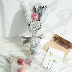 발렌타인데이 장미 수제초콜릿 꽃다발 한송이 선물