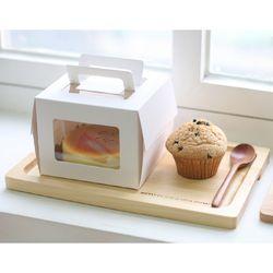미니창 케익 포장세트 화이트(3set박스+금박받침)