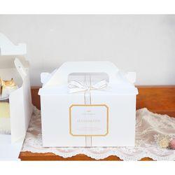 조각케익 상자 포장세트 (2set박스+리본+스티커)