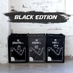 블랙 크롱이 재활용 분리수거함/쓰레기통
