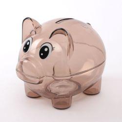 투명 돼지저금통(브라운)