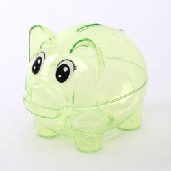 투명 돼지저금통(그린)
