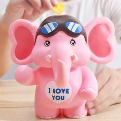 알럽 코끼리저금통(핑크)