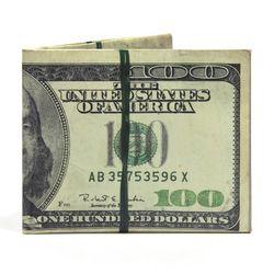 디월아트 100달러 화폐 벤자민플렉스 친환경종이지갑(TW-WA-046)