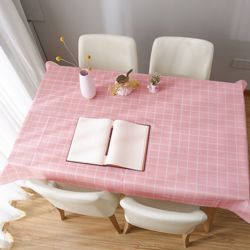 홈러브 격자무늬 식탁보(핑크) (90x137cm)