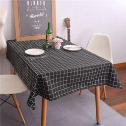 페페니 체크 사각 식탁보(블랙) (100cm)