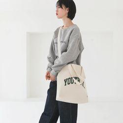 20SS 아치 유스풀 빅 에코백-아이보리