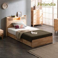 핀란디아 네이쳐 R100 수납LED 침대 SS(슈퍼싱글)+독립매트리스