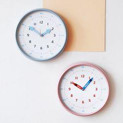[카테고리확인] 250파이 어린이 시간공부 무소음 컬러벽시계(2color)