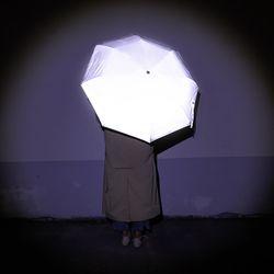 안전한 재귀 반사 소재 리플렛츠 전면 반사 3단 우산