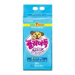 플라이독 배변패드 소형 50매(M) 40X48 애견패드 강아지패드