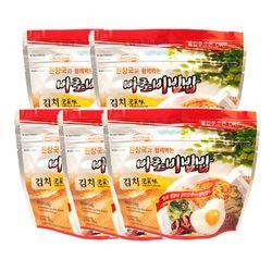 전투식량 비상식량 바로비빔밥 김치 5개세트