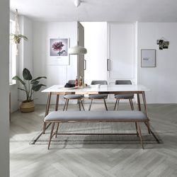 레인 골드 세라믹 6인 식탁테이블