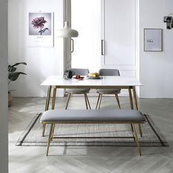 레인 골드 세라믹 4인 식탁테이블