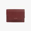 REIMS W020 zip Card Wallet Burgundy