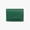 REIMS W020 zip Card Wallet Green