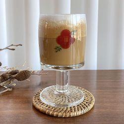 동백꽃 고블렛 유리컵