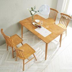소이 고무나무원목 4인 식탁세트