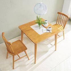 소이 고무나무원목 2인 식탁세트